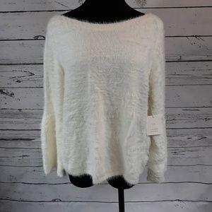 Lauren Conrad mohair bell sleeve sweater